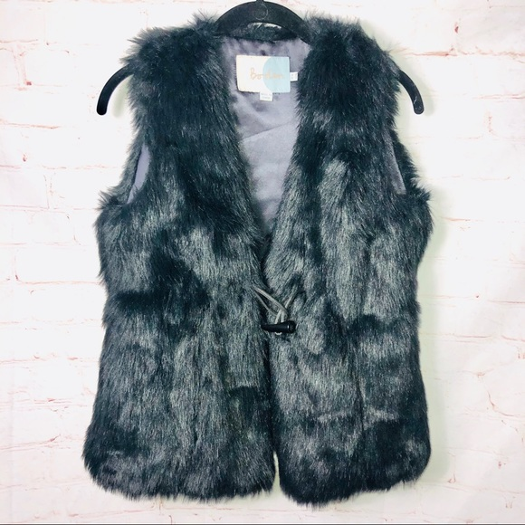 Boden Faux Fur Vest with Toggle Closure